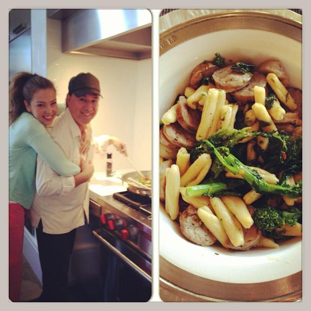 thalia_tommy_mottola_instagram_cooking_chef_italian_pasta_marzo_2013
