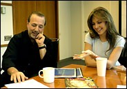 thalia con tommy mottola new york office oficina nueva york
